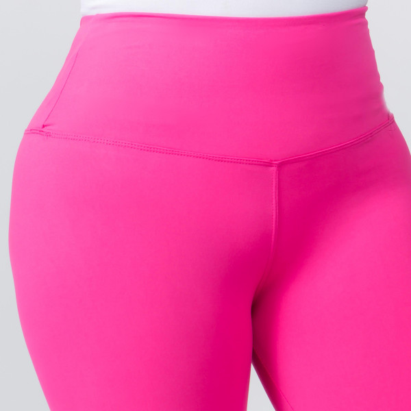 """These plus size New Mix Brand peach skin leggings are seamless, chic, and a must-have for every wardrobe. These lightweight, full-length leggings have a 5"""" waistband. They are versatile, perfect for layering, and available in many colors. 92% Polyester 8% Spandex. One size fits most, fits US women's 16-20."""