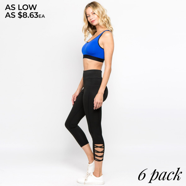 The perfect look for your next pilates class, these easy to pull on active leggings feature an eye-catching criss cross ankle detail and an all-over supportive fit. Wear these leggings for your daily morning run or low-key days relaxing at home! 