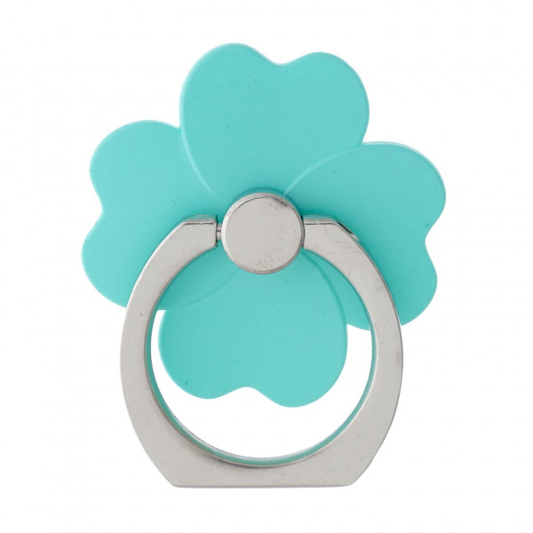 "Self adhesive cell phone peel and stick charm finger grip. Approximately 1.25"" in diameter.  - Comfortable, safe and secure grip ring with kickstand  - Rotates 360 and swivels 180 - Compact and slim clover design - Universal smartphone mount - Small and unobtrusive"