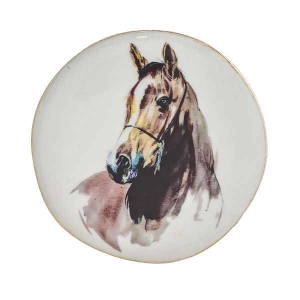 """Accessorize your phone grip with this metal decorative peel and stick charm featuring """"Horse"""" illustration enamel details sealed with a clear coating. Approximately 1.5"""" in diameter. Fashion charms can also be used for the following:  - Laptops - Refrigerator Magnets - On DIY Home Projects - Car Dashboard - And anywhere you can Imagine"""