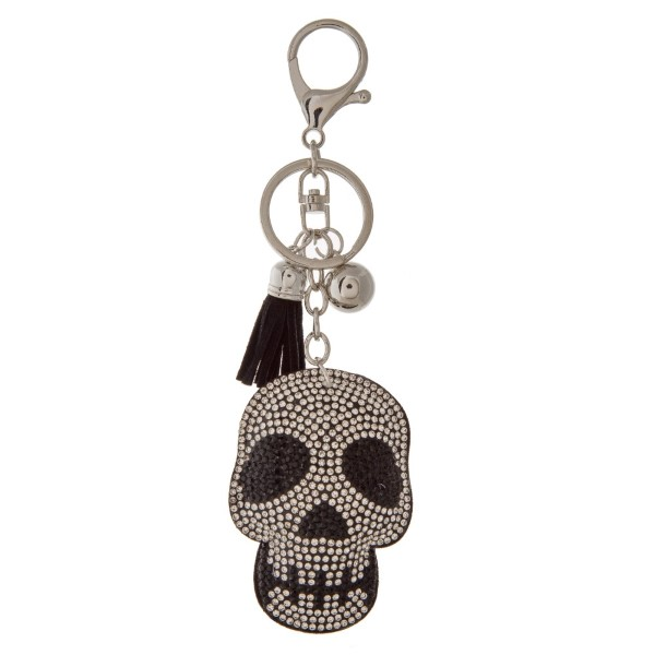 """Keychain with skull design. Approximately 4.5"""" in length."""