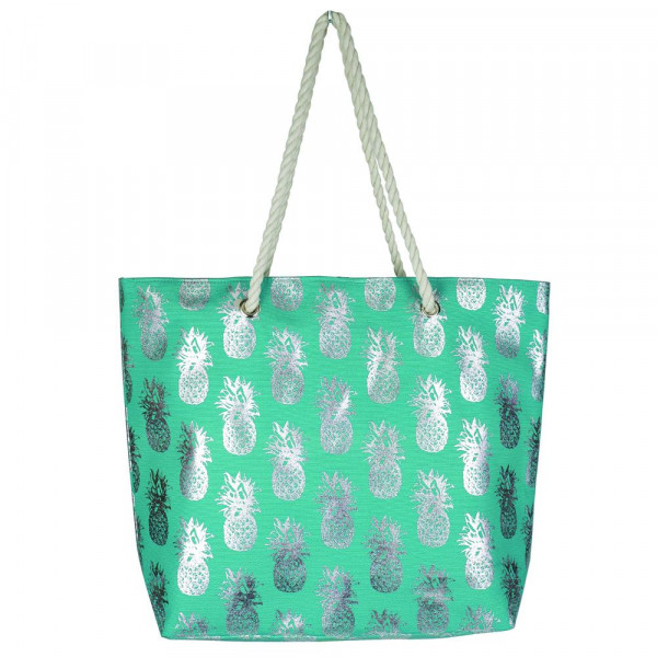 "Pineapple glitter beach bag. 20 1 4""X15 1 2""X5"" 60% cotton 9a51090bac089"