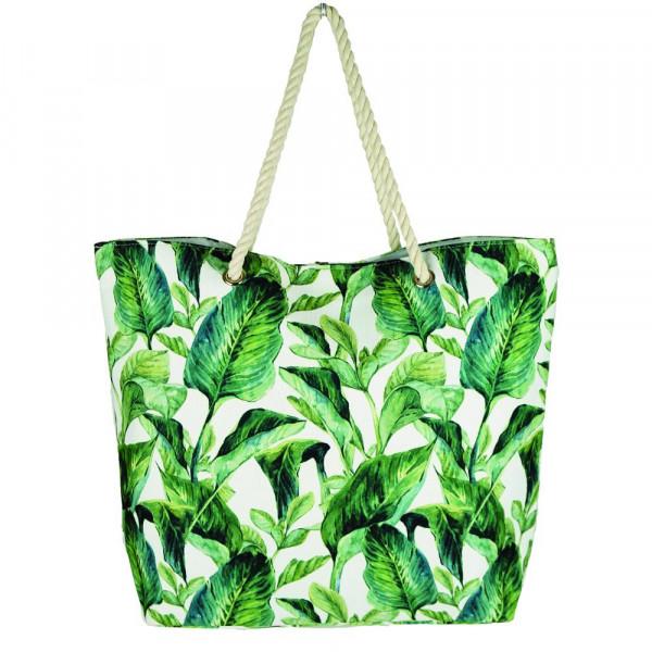 """Tropical leaves beach bag. 20 1?4"""" x 15 1?2"""" x 5"""""""