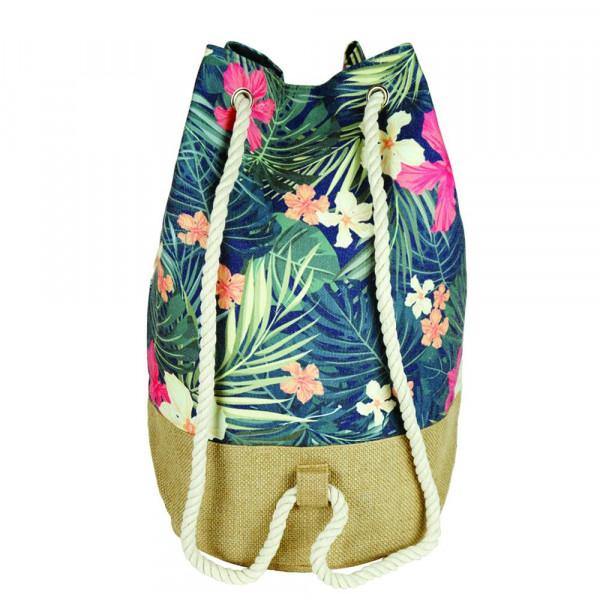"""Tropical flower beach bag.18 1?4"""" x 18 1?4"""" x 11"""""""