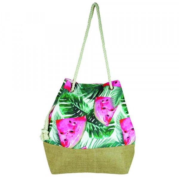 """Tropical watermelon beach bag. 20 1?2"""" x 15 1?2"""" x 7"""""""