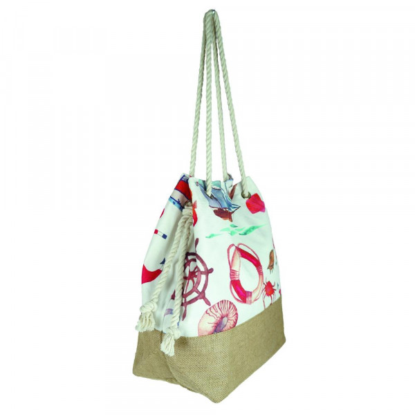 "Sea life beach bag. 20 1?2"" x 15 1?2"" x 7"""