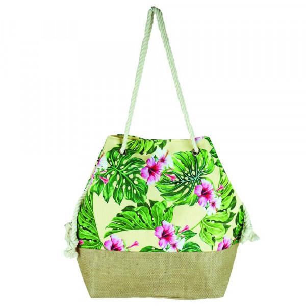 """Tropical hibiscus beach bag. 20 1?2"""" x 15 1?2"""" x 7"""""""