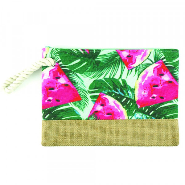 "Watermelon beach pouch. 10"" x 7"""