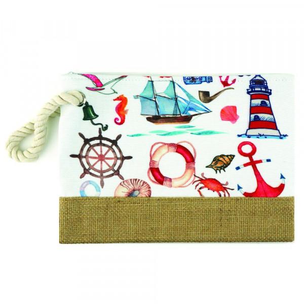 """Sea life beach pouch. 10"""" x 7"""""""