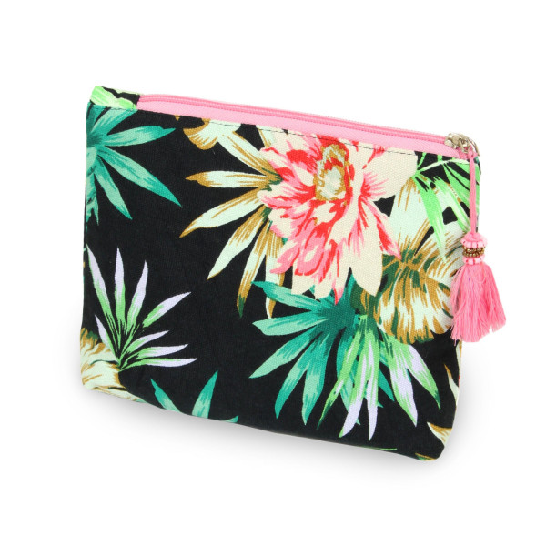 Tropical pouch/ cosmetic bag. 8w X 6L.