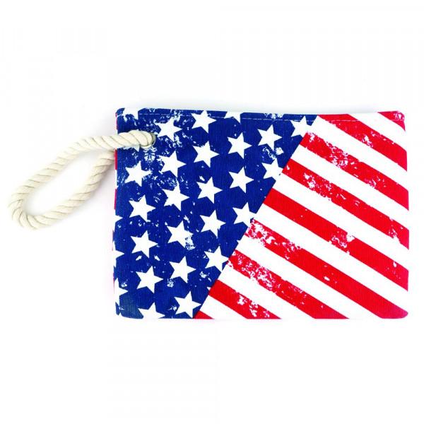 """American beach pouch. 10"""" x 7"""""""