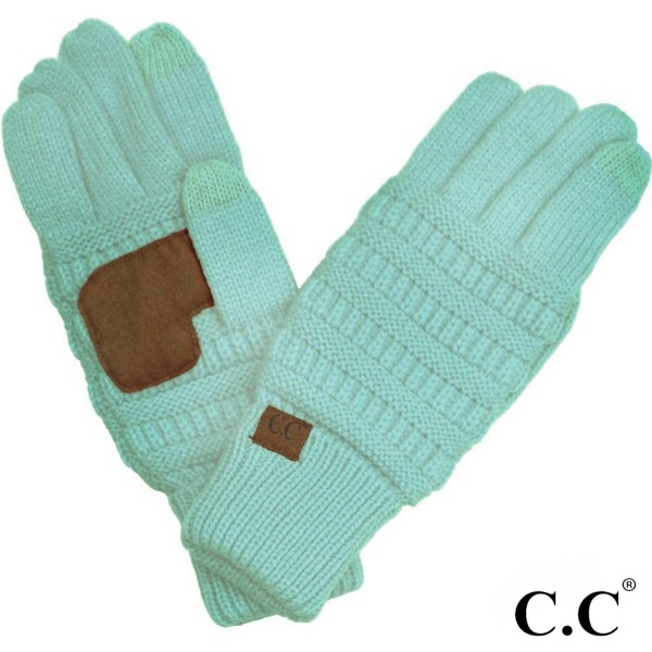 G-20: Solid ribbed C.C glove with smart tips. 100% acrylic.