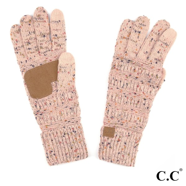 C.C G-33 Ribbed confetti knit glove  - 100% Acrylic - One size fits most