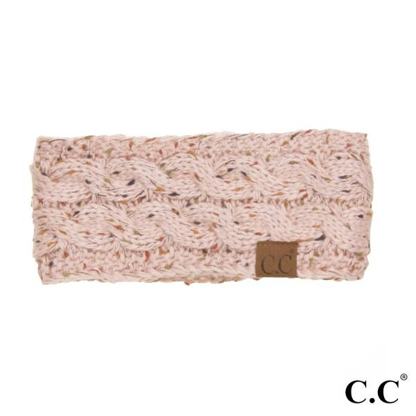 HW-33: Confetti knit C.C Head Warmer. 100% acrylic.