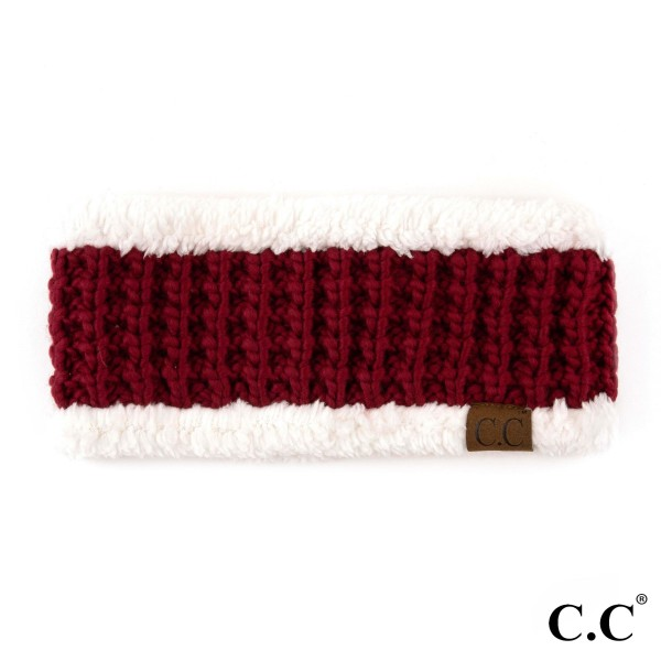 C.C HW-36 Knit head band with fuzzy lining  - 100% Acrylic - One size fits most