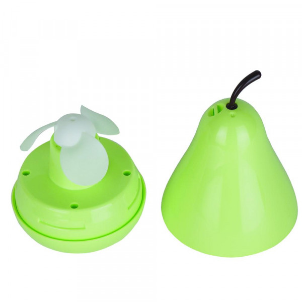 """Mini pear fan. Only the wind there is no sound. High and low speed controlling. Adjustable wind power, durable and quiet with low speed, cooler with high speed. 4"""" in length."""