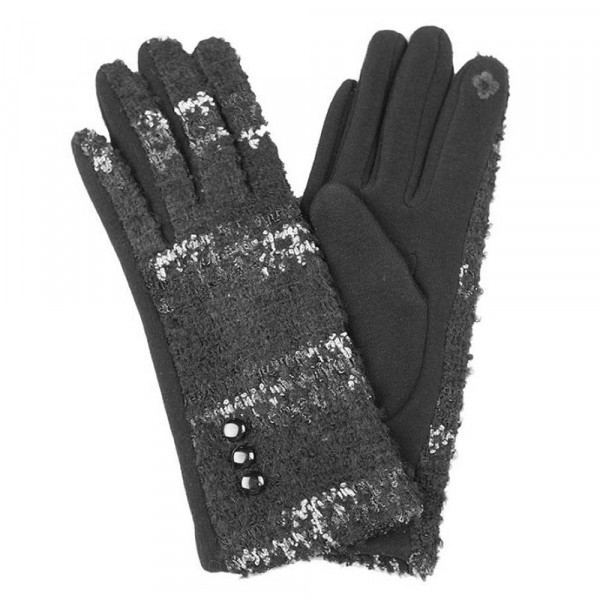 Multicolor popcorn smart touch gloves.  - One size fits most  - 100% Acrylic