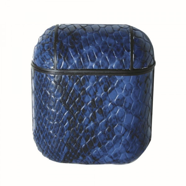Wholesale faux leather snakeskin hard cover AirPod case protector Full Protectio