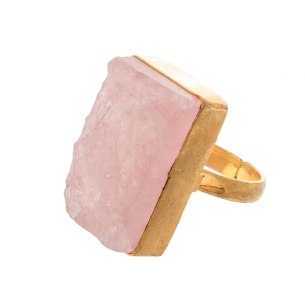 Druzy Statement Ring.  - One size fit most - Adjustable Open Band - Druzy approximately 1""