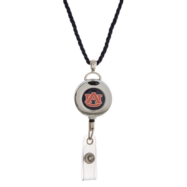 "Officially licensed Auburn University lanyard and ID holder with a break-away cord. Approximately 32"" in length."