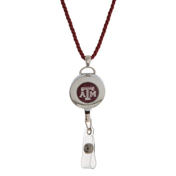 Wholesale officially licensed Texas M lanyard ID holder break away cord
