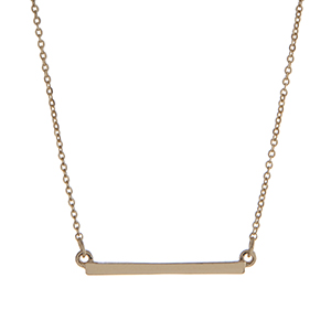 """Dainty gold tone bar necklace. Approximately 15"""" in length."""