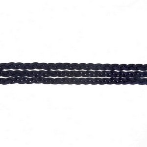 """Navy blue triple row, braided faux suede choker. Approximately 12"""" in length."""