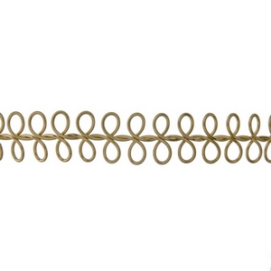 "Gold tone choker necklace with a swirl pattern and 3"" extension chain."