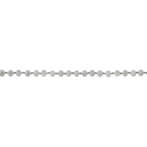 "Gray beaded choker. Approximately 12"" in length."