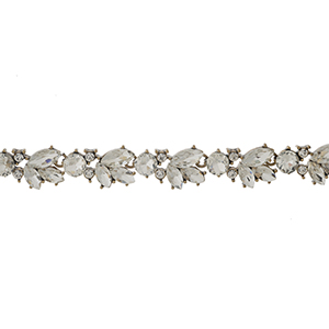 """Tan faux suede wrap choker with a clear rhinestone focal. Approximately 72"""" in length."""