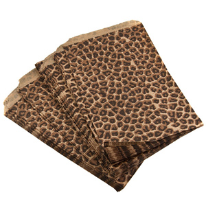 "100 count cheetah print gift bags measuring 8.5"" x 11"". Perfect for sending your merchandise home with your customers in style!"