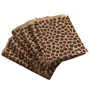 "100 count cheetah print gift bags measuring 5"" x 7"". Perfect for sending your merchandise home with your customers in style!"