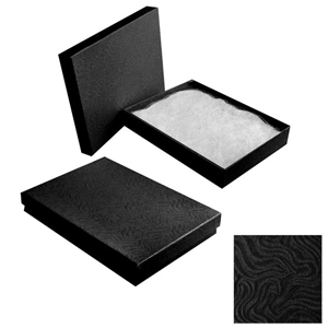 "Black Gift Box with Cotton Batting Insert. (Approx 5"" x 7"" x 1"")"