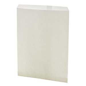 "100 count white large size gift bags. Approximately 8 1/2"" x 11"""