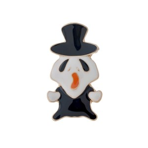"Gold tone ghost pin. Approximately 2"" in height."