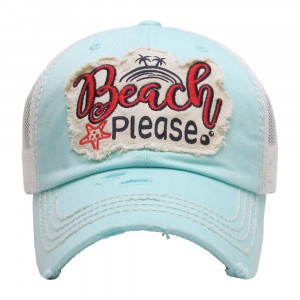 Embroidered, vintage style ball cap with washed-look details.