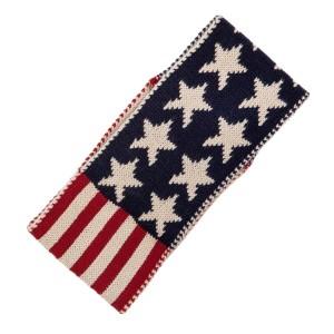 American flag ear warmer/head wrap. 100% acrylic.