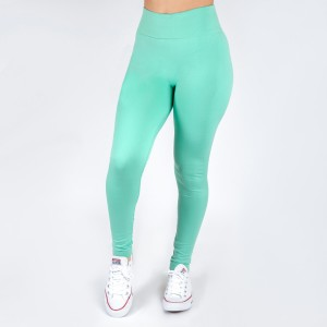 New Kathy / New Mix aqua, summer-weight leggings are seamless, chic, and a must-have for every wardrobe. These lightweight, full-length leggings are versatile, perfect for layering, and available in many shades. Smooth fabric, 92% Nylon 8% Spandex. One size fits most, fits US women's 0-14.