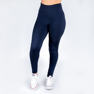 New Kathy / New Mix navy, summer-weight leggings are seamless, chic, and a must-have for every wardrobe. These lightweight, full-length leggings are versatile, perfect for layering, and available in many shades. Smooth fabric, 92% Nylon 8% Spandex. One size fits most, fits US women's 0-14.