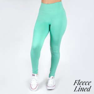 New Kathy / New Mix dark mint, fleece lined leggings are seamless, chic, and a must-have for every wardrobe. These cozy, full-length leggings are versatile, perfect for layering, and available in many shades. Smooth fabric, 92% Nylon 8% Spandex. One size fits most, fits US women's 0-14.