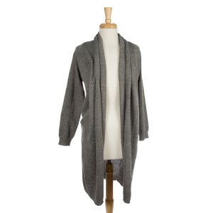 Midweight, cardigan sweater with long sleeves. 100% acrylic. One size.