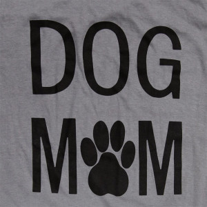 Dog Mom - Short Sleeve Boutique Graphic Tee.  • Color: Gray  • 100% Cotton  • Brand: Anvil • Sold in 6 pack. S:1 M:2 L:2 XL:1