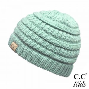 "The original C.C beanie style for kids. 100% acrylic. Measures 7"" in diameter and 7"" in length. Approximate fit: toddler to 7 years of age."