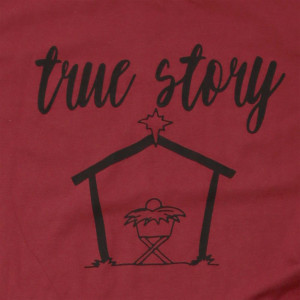 True Story - Short Sleeve Boutique Graphic Tee. These t-shirts are sold in a 6 pack. S:1 M:2 L:2 XL:1 Color: Green Apple, 50% Cotton 50% Polyester Brand: Anvil