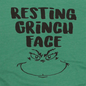 Resting Grinch Face - Short Sleeve Boutique Graphic Tee. These t-shirts are sold in a 6 pack. S:1 M:2 L:2 XL:1 Color: Green, 52% Cotton 48% Polyester Brand: Bella Canvas