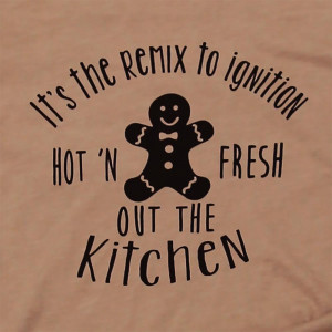 It's the remix to ignition, hot 'n fresh out the kitchen - Short Sleeve Boutique Graphic Tee. These t-shirts are sold in a 6 pack. S:1 M:2 L:2 XL:1 Color: Rust 52% Cotton 48% Polyester Brand: Bella Canvas