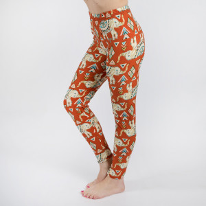 "New Mix printed peach skin leggings are seamless, chic, and a must-have for every wardrobe. These lightweight, full-length leggings have a 1"" waistband. They are versatile, perfect for layering, and available in many unique prints. 92% Polyester 8% Spandex. One size fits most, fits US women's 0-14."