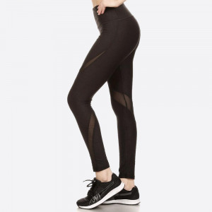 ABSTRACT EMBOSSED PRINT, POLY BRUSHED SPORT LEGGING WITH ASYMMETRICAL MESH PANELS WITH ELASTIC WAISTBAND AND OVERLOCK STITCHING DETAIL.   SIZE:S-M-L-XL (1-2-2-1) PACKAGE:6PCS 94% POLYESTER, 6% SPANDEX,  MESH: 90%POLYESTER, 10%SPANDEX