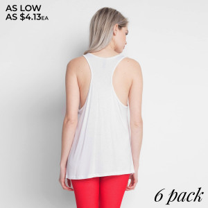 "Add some flair to your style in this Women's Flare Tank with a ""USA FLAG"" design, you'll love its delicate gathered racerback detail, its flare bottom, how effortlessly it falls onto your body, as well as its ultra soft to the touch feel. Both comfortable and stylish, this versatile tank is perfect for your day-to-day, whether you're working out, on vacation, running errands, or relaxing at home. 
