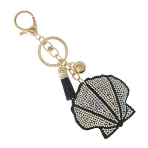 "Seashell key chain and bag charm. Approximately 6"" in total length."